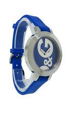 Dolce & Gabbana Time Hoopla DW0669 Women's Round Blue Analog Silicone Watch