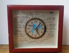 GMT World Analog Clock Airplane Second Hand LORD KING Quartz Tested Working JAL