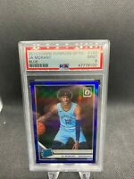 2019-20 Panini Donruss Optic Ja Morant Prizm Blue Rated Rookie RC 56/59 PSA 9