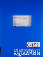 Cincinnati Milacron No. 1 and 2 Sculpto Form Milling Machine, Operations Manual