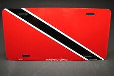 TRINIDAD TOBAGO FLAG METAL NOVELTY LICENSE PLATE TAG FOR CARS