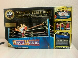 Jakks Pacific WWE OFFICIAL SCALE RING Wrestlemania Edition Sealed