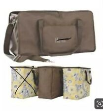 Thirty One Xxl Utility Tote Set Brown Brand New Retired Rare
