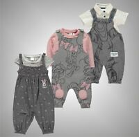 2 Piece Babies Boys Girls Disney Stylish Printed Dungaree Set Sizes 0-24 Mnth