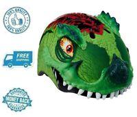 New Raskullz T Rex Green Bike Helmet Bicycle Kid Protective Dinosaur Head Wear