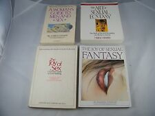 (4) BOOKS: THE JOY OF SEXUAL FANTASY, ART ECSTASY SEX, WOMAN'S GUIDE TO MEN AND