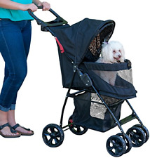 Pet Gear No-Zip Happy Trails Lite Pet Stroller for Cats/Dogs, Easy Fold with