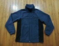 Columbia Sportsware Full Zip Fleece Jacket~Blue/Black~Youth Size Large (14/16)