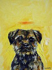 border terrier angel dog halo art print animals impressionism 8x10 new