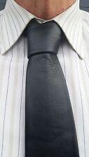 "Handmade VIKTOR SABO  QUALITY & A DEAL Black Leather Tie 3""/7.6 cm"