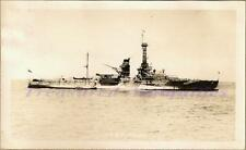 1930s US Navy USS Florida BB-30 Battleship Starboard Broadside Long Beach Photo