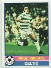 Paul Wilson signed 1976 1977 Topps Scottish Yellow Back card #64 Celtic