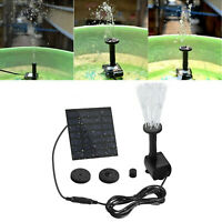 Solar Power Fountain Water Pump Kit Pool Garden Pond Watering Submersible RD957