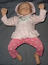 Ashton Drake Lifelike Sleeping Baby Doll by Master Artist Linda Murray Adg