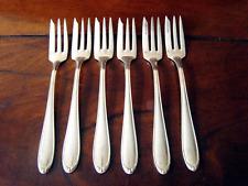 BRUCKMANN Barock Silberbesteck, Kuchengabeln 6 Gabeln versilbert 90 Silber