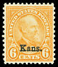 "Scott 664 1929 6c ""Kans."" Overprint Issue Mint F-VF OG NH Cat $50"