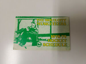 RS20 Sioux City Musketeers 1978/79 Minor Hockey Pocket Schedule - Budweiser