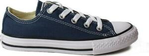 Converse Chuck Taylor All Star 3J237c Navy Canvas Childrens Unisex Lace Up Shoes
