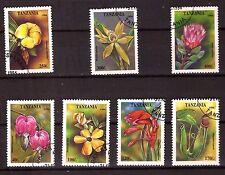 TANZANIE série timbres #sc1303-1309 les fleurs  376T6