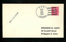 US Naval Ship Cover USS Hopewell DD-681 Korean 1951 Post Office ReEstablished