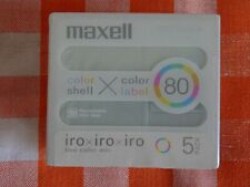 5pack Brand New  MAXEL Iro Iro Iro MD80 Minidisc - Factory sealed