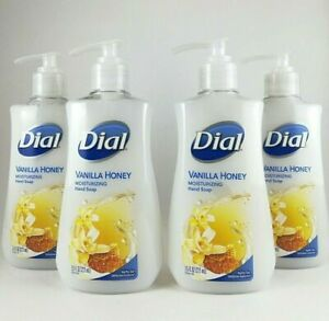Dial Vanilla Honey Hand Soap Moisturizer 7.5 Oz 4 Pack Expedited Shipping