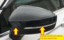 TIGUAN 2016 - 2019 MK2 SIDE MIRROR TRIMS CARBON FINISH (TOP SECTION CAP) TG031