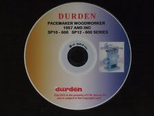 GENUINE DURDEN DVD FOR THE PACEMAKER WOODWORKER MODELS. 1957 ONWARDS AND INC