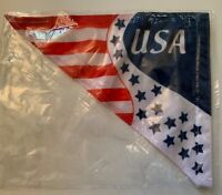 USA FLAG 12x10 With Velco Excellent for Fundraising Buy 10+ & Get Free Shipping