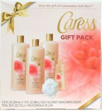 Caress 5 Piece Daily Silk With White Peach Orange Blossom Body Wash Gift Pack