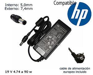 Cargador de reemplazo para HP EliteBook 8440p HP EliteBook 8460p