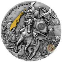 CHINGGIS KHAAN 2 Oz Silver Coin 5$ Niue 2019