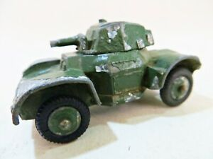 KEMLOW AUTOMEC 'DAIMLER ARMOURED CAR'. ARMY. VINTAGE. DINKY 670 COPY. RARE.