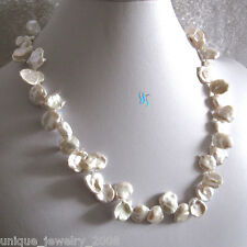 "20"" 9-15mm Ivory Keshi Single Row Freshwater Pearl Necklace"