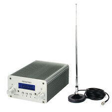 5W/15W FM Transmitter Mini Radio Stereo Station Bluetooth Wireless Broadcast--US