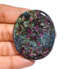 100% Natural Ruby Fuchsite Oval Cabochon Loose Gemstone 77 Ct. 44X37X4 mm D-329