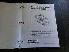 Nilfisk Advance Captor 4300B 4800B CR 1100B 1200B Use Instructions Repair Manual