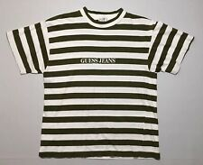 VTG 90s Guess Jeans USA Striped T Shirt Georges Marciano Stripe Tee OG Size L