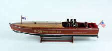 "Gar Wood Miss America IX 32"" - Handmade Wooden Model Racing Boat Model"