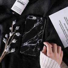 Black White Marble Texture Shockproof Soft TPU Case Cover for iPhone X 8 7 Plus