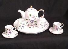 Pansy Pink Purple Floral Tea Set Porcelain Retired Collectible Child's Ranger