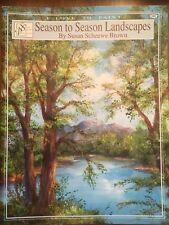 SCHEEWE  Book titled SEASON TO SEASON LANDSCAPES, Painting Watercolor or Acrylic
