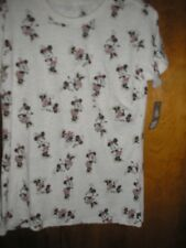 XL Minnie Mouse All Over on Beige Tee Disney Store Tee Shirt NWT
