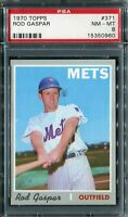 1970 Topps #371 Rod Gaspar PSA 8 NM-MT