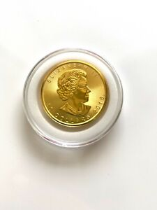 QUEEN ELIZABETH II CANADA 2016 GEM BU MINT SEALED.9999 1 oz GOLD $50 COIN