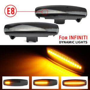 Smoke Dynamic LED Side Marker Light For Nissan CKV36 Pathfinder R52 Z51 GY50 V36