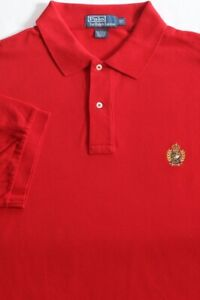 New $98 Polo Ralph Lauren Red Cotton Mesh Polo w/ Crest / Big 4X