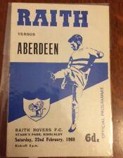 Raith Rovers v Aberdeen, 22 Feb 1969, Starks Park