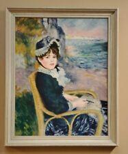 """Vintage Pierre Auguste Renoir """"By The Seashore"""" Print Framed 27.5"""" x 22"""""""