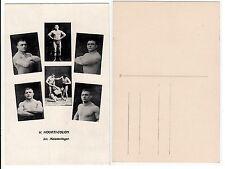 Ringer hourti Colon FORZA SPORT, volte Half nude wrestler Friends c.1925 GAY INT